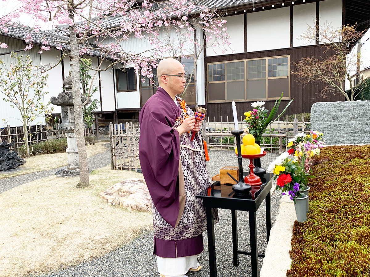 大源寺春の供養祭の読経